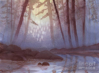 Painting - Stream In Mist by Lynn Quinn