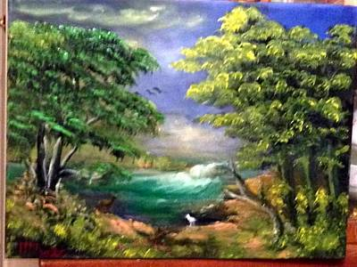 Painting - Stream In The Wood by M Bhatt