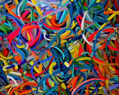 Streamers Of Joy Art Print by Michael Durst