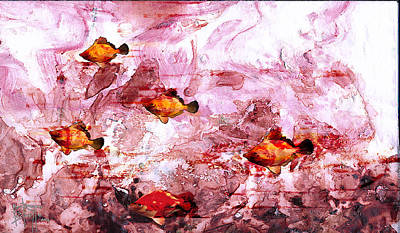 Art Print featuring the painting Streaming by Ron Richard Baviello