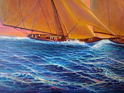 Painting - Streaming Sails by Joseph   Ruff