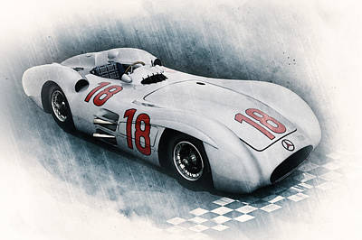 Streamliner Digital Art - Streamliner by Peter Chilelli