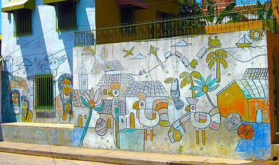 Photograph - Street Art Granada Nicaragua 2 by Kurt Van Wagner