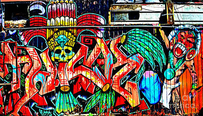Photograph - Street Art In The Mission District Of San Francisco Altered by Jim Fitzpatrick