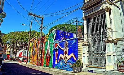 Photograph - Street Art In The Mission District Of San Francisco Iv by Jim Fitzpatrick