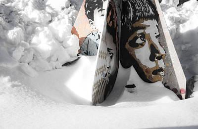 Photograph - Street Art In The Snow by Valerie Rosen