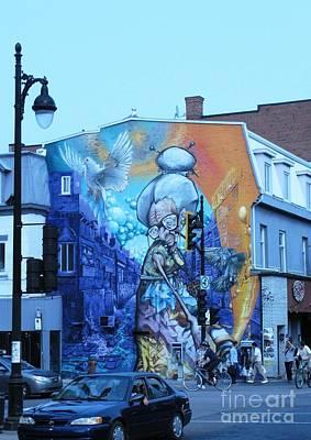 Photograph - Street Art. Montreal. Quebec 2014 2 by Ausra Huntington nee Paulauskaite