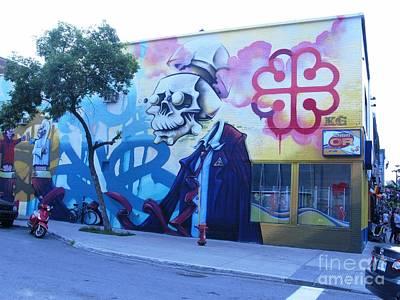 Photograph - Street Art. Montreal. Quebec 2014 by Ausra Huntington nee Paulauskaite