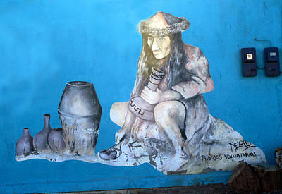 Mural Photograph - Street Art Poconchile Chile by Kurt Van Wagner