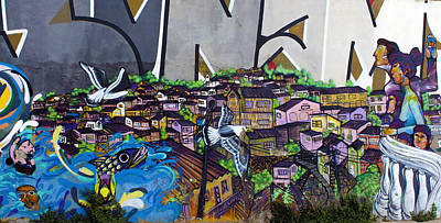 Photograph - Street Art Valparaiso Chile 11 by Kurt Van Wagner