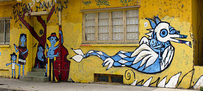 Photograph - Street Art Valparaiso Chile 12 by Kurt Van Wagner