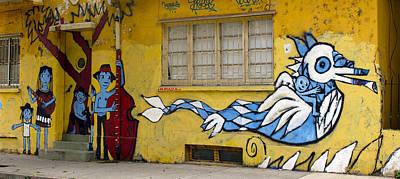 Murals Photograph - Street Art Valparaiso Chile 12 by Kurt Van Wagner
