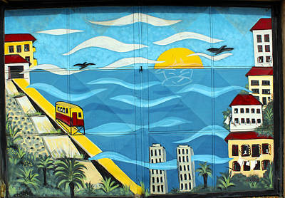 Street Art Valparaiso Chile 13 Art Print by Kurt Van Wagner