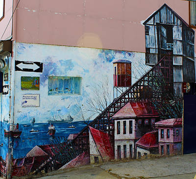 Street Art Valparaiso Chile 17 Art Print by Kurt Van Wagner