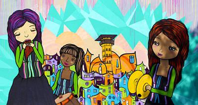 Murals Photograph - Street Art Valparaiso Chile 18 by Kurt Van Wagner