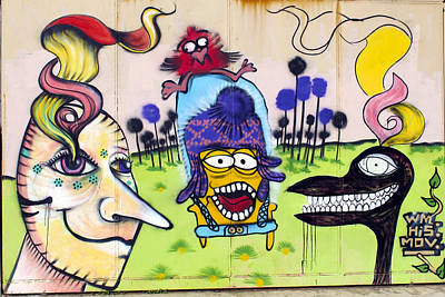 Street Art Valparaiso Chile 3 Print by Kurt Van Wagner