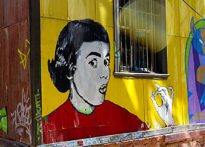 Street Art Valparaiso Chile 7 Art Print by Kurt Van Wagner