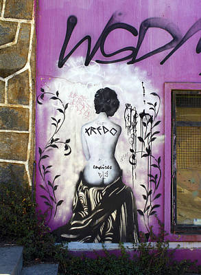 Woman Photograph - Street Art Valparaiso Chile 8 by Kurt Van Wagner