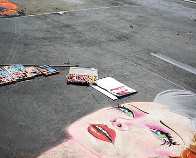 Photograph - Street Art Woman's Face by Gabriele Pomykaj