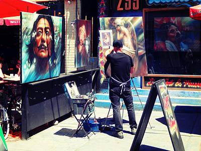 Artist Working Photograph - Street Artist by Zinvolle Art