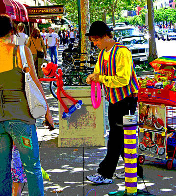 Photograph - Street Balloon Art by Joseph Coulombe