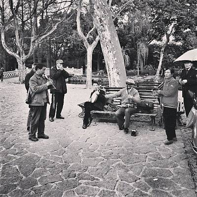 Band Photograph - Street Band #shanghai #band by C C