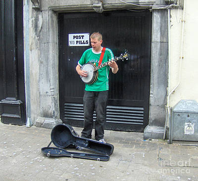Photograph - Street Busker Ireland by Brenda Brown