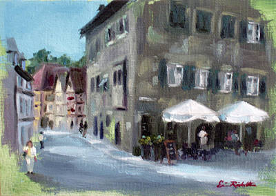 Painting - Street Cafe' by Erin Rickelton