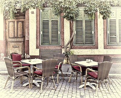 Character Photograph - Street Cafe In Heidelberg by Marcia Colelli