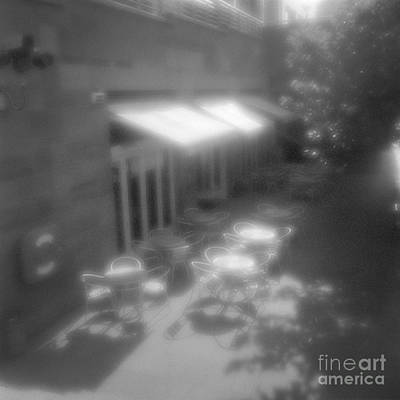 Pinhole Photograph - Street Cafe In Morning Light by Colin and Linda McKie