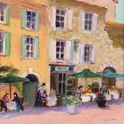 Painting - Street Cafe by J Reifsnyder