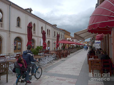 Photograph - Street Cafes - Shkoder - Albania by Phil Banks