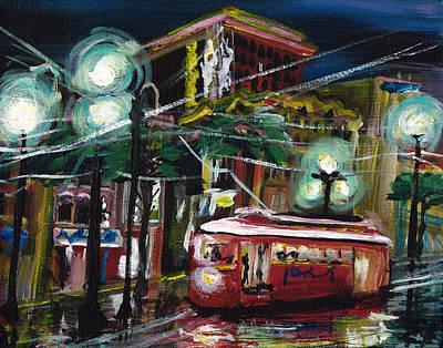 Mardi Gras Painting - Street Car by Gretchen  Smith
