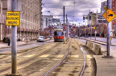 Street Car On Lakeshore Art Print