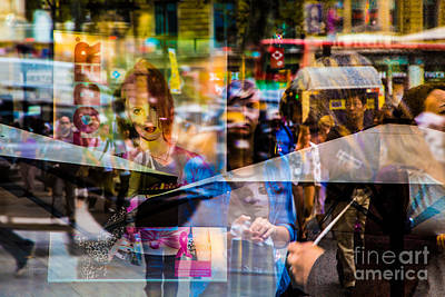 Photograph - Street Confusion On The Streets Of Barcelona- Double Exposure by Rene Triay Photography