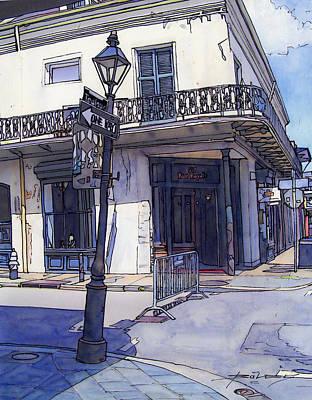 French Door Drawing - Street Corner 214 by John Boles