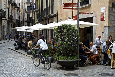 Photograph - Street Corner Girona Spain by Christopher Rees
