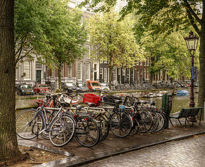 Photograph - Street Corner In Amsterdam by Uri Baruch