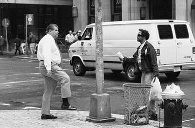 Photograph - Street Corner Scene Nyc by Dave Beckerman