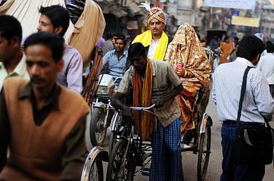 Photograph - Street Couple by Money Sharma