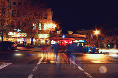 Photograph - Street Crossers At Pack Square Asheville by Gray  Artus