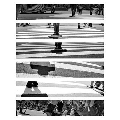 Photograph - Street Crossing #1 by Martin New
