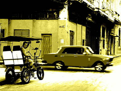 Photograph - Street Crossing In Old Havana Cuba  by Funkpix Photo Hunter