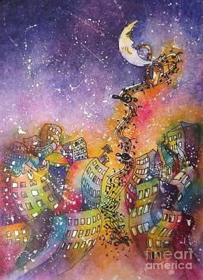 Painting - Street Dance by Carol Losinski Naylor