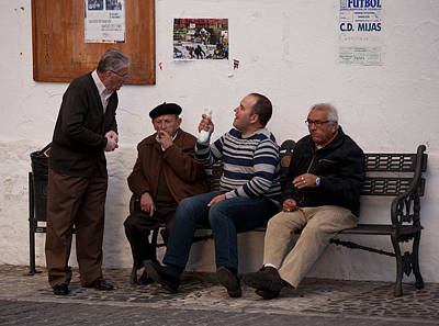 Photograph - Street Debate by Paul Indigo