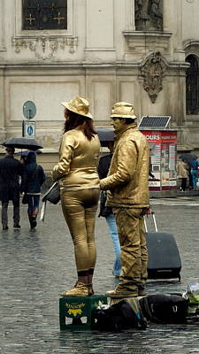 Photograph - Street Entertainers In Prague by Caroline Stella