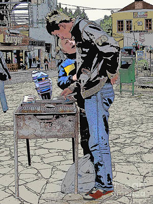 Vermeer Rights Managed Images - Street Food Vendors Royalty-Free Image by CR Leyland