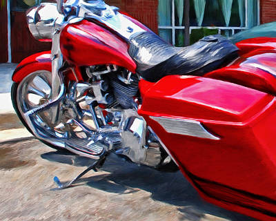 Motorcyle Painting - Street Glide by Michael Pickett