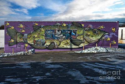 Photograph - Street Graffiti - Fish Art by Liane Wright