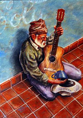 Street Guitar    Art Print by Dan Terry
